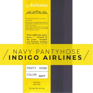 Anfanna Pantyhose Navy Indigo Airlines